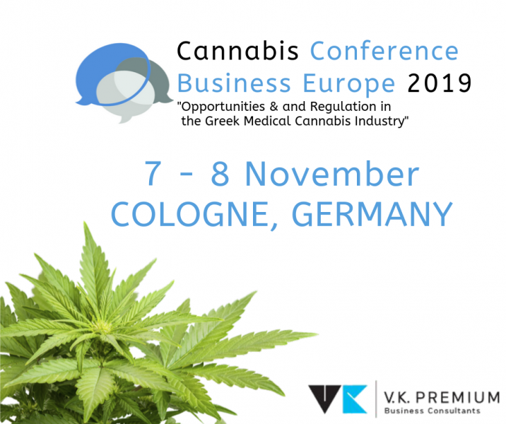 C.Vamvakas will be guest speaker during the Cannabis Business Europe Conference, 7th – 8th November 2019, Cologne, Germany.
